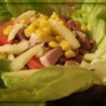 Hagymás-tökmagolajos saláta